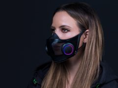 Razer's Project Hazel concept face mask has lights and a microphone so users can be seen and heard clearly (Razer/PA)