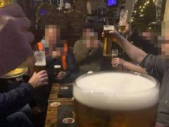 Large groups were pictured drinking at the Grosvenor Hotel in Skegness (Lincolnshire Police/PA)