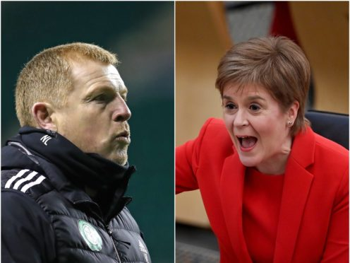 Neil Lennon has responded following Nicola Sturgeon's comments (PA)