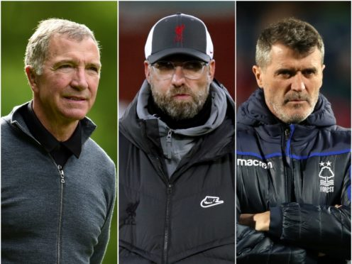 Graeme Souness, left, and Roy Keane, right, gave their views on Jurgen Klopp's Liverpool following the 0-0 draw with Manchester United (Adam Davy/ Clive Brunskill/Nick Potts/PA)