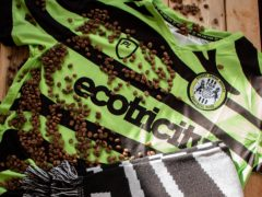 Forest Green will wear a kit partially made from waste coffee grounds this weekend (Handout/Forest Green)