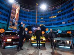 Andrew Flintoff, Paddy McGuinness, Chris Harris (BBC Studios/PA)