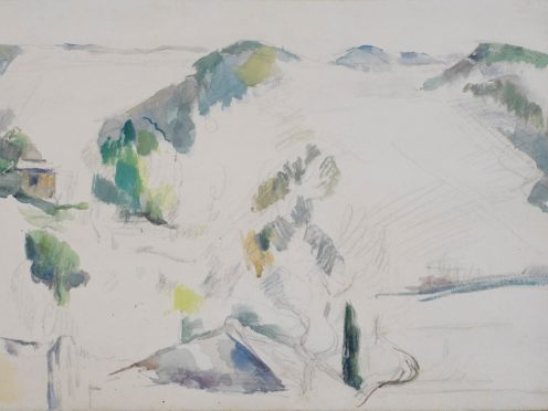 Paul Cezanne's Mountainous Landscape (Courtauld)