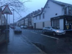 A police cordon off the Cliftonville Road (Rebecca Black/PA)