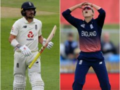 Comments from Alex Hartley, right, brought responses from England opener Rory Burns (Mike Hewitt/Nigel French/PA)