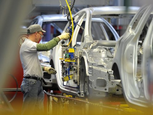 Car-makers are 'paddling furiously below the water' to maintain their supply chains post-Brexit, an industry leaders has warned (Martin Rickett/PA)
