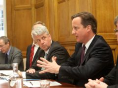 Then Prime Minister David Cameron and health secretary Andrew Lansley in 2012 (Mark Richards/PA)