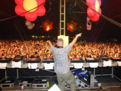 Fatboy Slim performs at Creamfields in 2001 (Myung Jung Kim/PA)