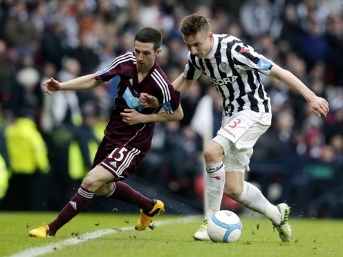 Jason Holt, left, played for Hearts in the 2013 final defeat to St Mirren (Danny Lawson/PA)