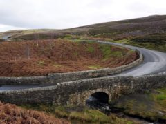 Narrow stone bridges and open moorland on Grinton Moor near Reeth provides classic Yorkshire Dales scenery for the Tour de France which will pass along the road on Stage 1 of the race on July 5th on the route between Leeds and Harrogate.