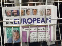 The New European newspaper on sale at a newsagents in London (Scott D'Arcy/PA))