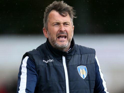 Steve Ball left Colchester after his side's defeat to Exeter (Richard Sellers/PA)