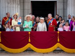 The royal family on the Buckingham Palace balcony (Victoria Jones/PA)