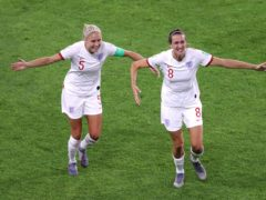 England's Steph Houghton (left) and Jill Scott are good friends (Richard Sellers/PA)