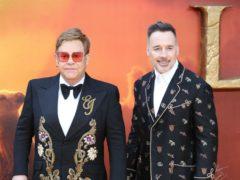 Sir Elton John and David Furnish (Jonathan Brady/PA)