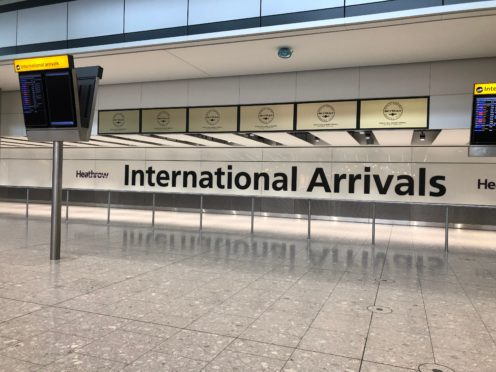 The Arrivals Hall in Terminal Five at Heathrow Airport, London, on day one of the first-ever strike by British Airways pilots. The 48 hour walk out, in a long-running dispute over pay, will cripple flights from Monday, causing travel disruption for tens of thousands of passengers.