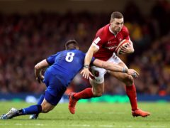 George North (right) will start at centre for Wales against Ireland (David Davies/PA Images).