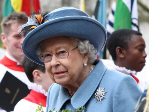 The Queen after attending the Commonwealth Service last year (Yui Mok/PA)