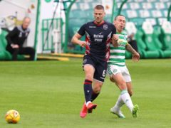 Iain Vigurs, left, is out for Ross County (PA)