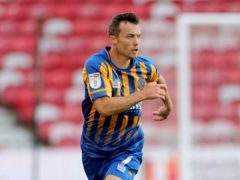 Shaun Whalley struck for Shrewsbury (Richard Sellers/PA)