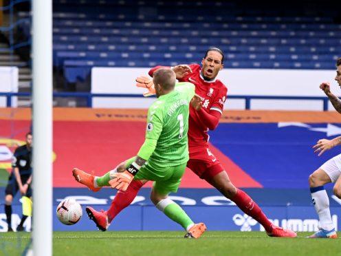 Liverpool defender Virgil van Dijk is unlikely to play again this season (Laurence Griffiths/PA)