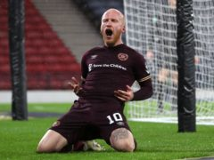 Liam Boyce scored a last-minute equaliser for Hearts in their 1-1 draw at Queen of the South (Andrew Milligan/PA)