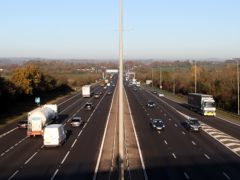 The M5 motorway near junction 8 at 0845, ahead of a national lockdown for England from Thursday.