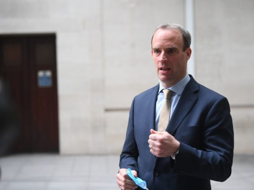 Foreign Secretary Dominic Raab has announced further sanctions on members of Myanmar's military (Victoria Jones/PA)