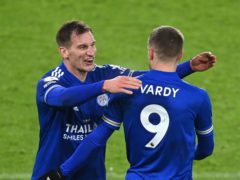 Marc Albrighton (left) believes Leicester are well-placed to challenge on three fronts (Michael Regan/PA)