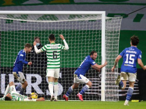 Chris Kane netted at Celtic Park in December (Andrew Milligan/PA)