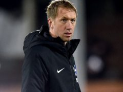 Graham Potter, pictured, says Brighton must be patient with Moises Caicedo (Glyn Kirk/PA)