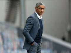 Chris Hughton praised his players for their win at Coventry (Barrington Coombs/PA)