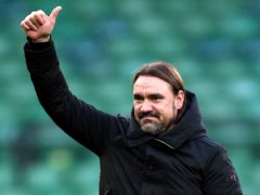 Norwich manager Daniel Farke is refusing to get carried away by their seven-point lead at the top of the table (Nigel French/PA)