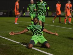 Jamille Matt scored a brace for Forest Green (Simon Galloway/PA)