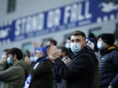 Brighton fans at the Amex Stadium (John Sibley/PA)