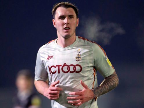 Callum Cooke scored the only goal for Bradford from the penalty spot (Mike Egerton/PA)