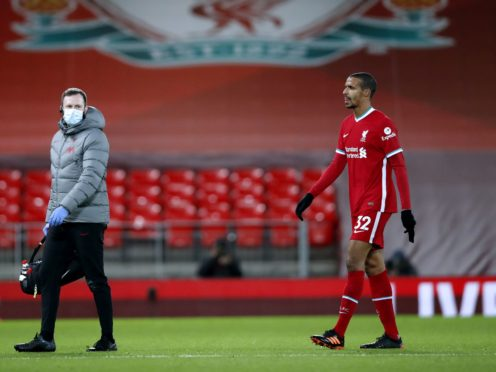 Injury to Joel Matip means Liverpool will likely be without their only three senior centre-backs for the rest of the season (Clive Brunskill/PA)