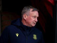 Michael O'Neill's Stoke edged Sheffield Wednesday (Tim Goode/PA)