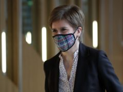 First Minister Nicola Sturgeon spoke at the Scottish Government's coronavirus briefing (Andrew Milligan/PA)