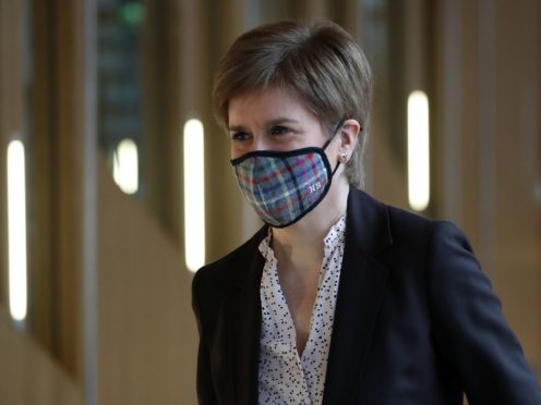 First Minister Nicola Sturgeon spoke at the Scottish Government's coronavirus briefing (Andrew Milligan/PA)