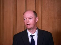 Chief medical officer Chris Whitty during a media briefing on coronavirus in Downing Street, London (Hannah McKay/PA)