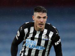 Ciaran Clark could miss Newcastle's Premier League fixture against Southampton (Clive Brunskill/PA)