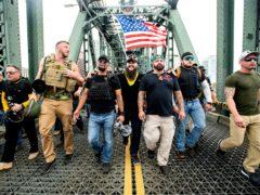 Members of the Proud Boys (Noah Berger/AP)