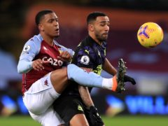 Ezri Konsa, left, has helped Villa keep clean sheets in half of his 20 Premier League appearances (Mike Egerton/PA)