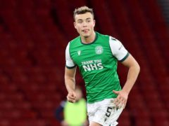 Ryan Porteous helped Hibernian to victory at St Mirren (Jeff Holmes/PA)
