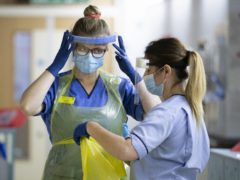 The union's poll also returned high figures of those supportive of a pay rise for NHS nursing staff (Jane Barlow/PA)