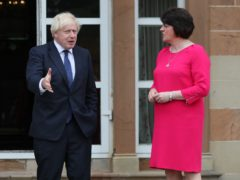 Prime Minister Boris Johnson has been urged to look at the NI Protocol by First Minister Arlene Foster (Brian Lawless/PA)