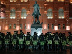 Police have cracked down on protests (Pavel Golovkin/AP)