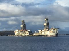 The Valaris DS4 drill ship broke free from its mooring at Hunterston Turminal (Freinds of the Clyde/PA)