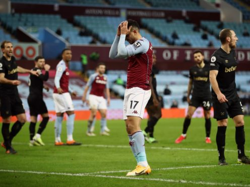 Villa have lost four of their last six Premier League matches (Tim Goode/PA)